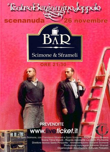 """Spiro Scimone e Francesco Sframeli """"Bar"""" al Teatro Beniamino Joppolo di Patti"""