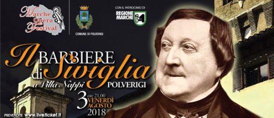 """Marche Opera Festival """"Il Barbiere di Siviglia"""" a Villa Nappi a Polverigi"""
