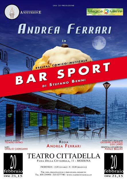 Bar Sport (Mamma mia che nottata) al Teatro Cittadella di Modena