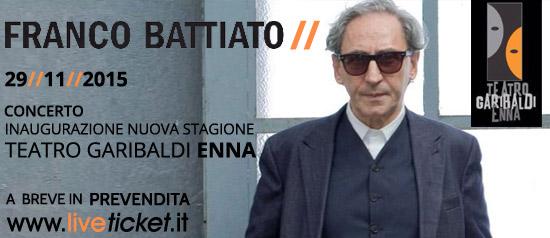 Franco Battiato in concerto al Teatro Garibaldi di Enna