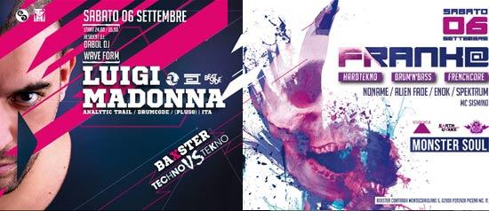 Techno VS Tekno - Frank@ VS Luigi Madonna @ Baxster Club