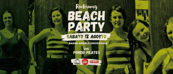 Rockaway beach party live Ponzio Pilates a Bagno Angelo Universale a Cesenatico