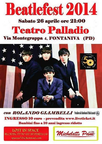 Beatlefest 2014 al Teatro Palladio di Fontaniva