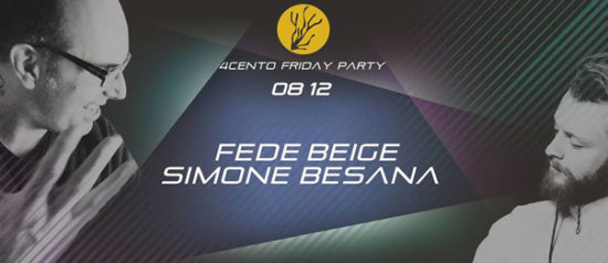 Friday party – Fede Beige e Simone Besana al Ristorante 4cento di Milano