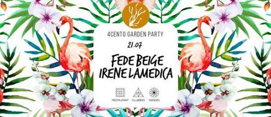 Garden party - Fede Beige e Irene Lamedica al Ristorante 4cento di Milano