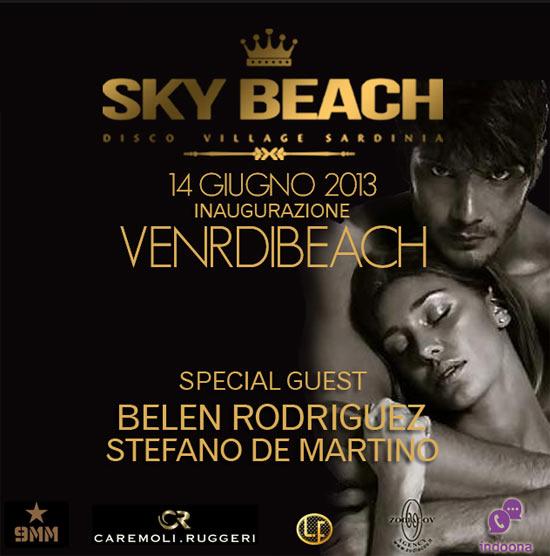 """Inaugurazione """"Gucci's"""" con Belen Rodriguez - Sky Beach Sardinia"""