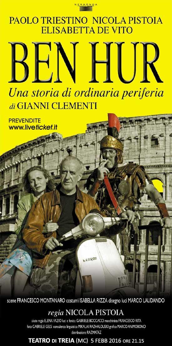 """Nicola Pistoia """"Ben hur"""" al Teatro Comunale di Treia"""