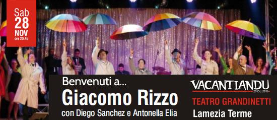 """Giacomo Rizzo, Diego Sanchez e Antonella Elia in """"Benvenuti a..."""" al Teatro Grandinetti di Lamezia Terme"""