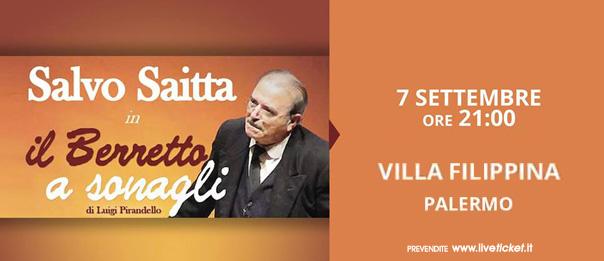 """Salvo Saitta """"Il Berretto a Sonagli"""" a Teatro Arena Villa Filippina a Palermo"""