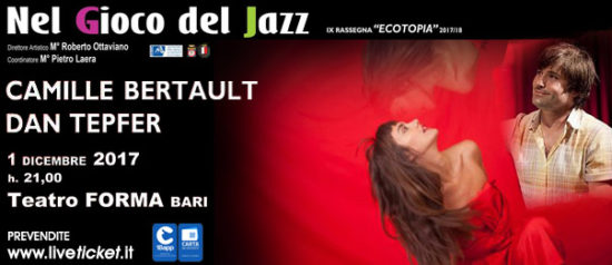 Camille Bertault duo al Teatro Forma di Bari