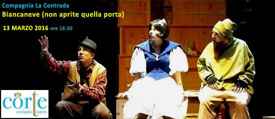 Biancaneve, non aprite quella porta al Teatro CorTe di Coriano