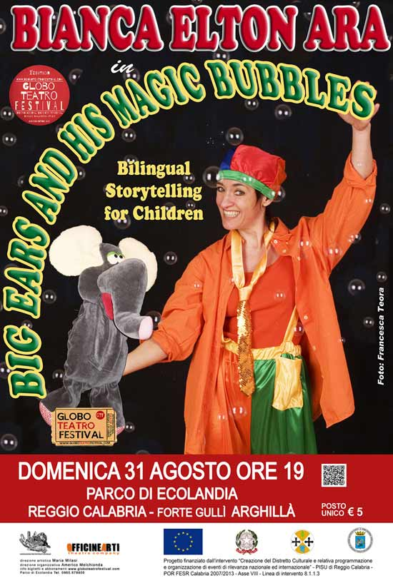 """Big Ears & his magic bubbles"" al Globo Teatro Festival a Reggio Calabria"