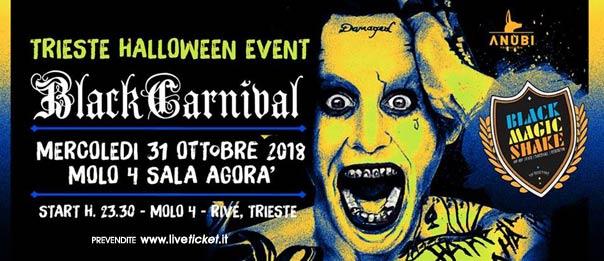 Black Carnival al Molo 4 a Trieste