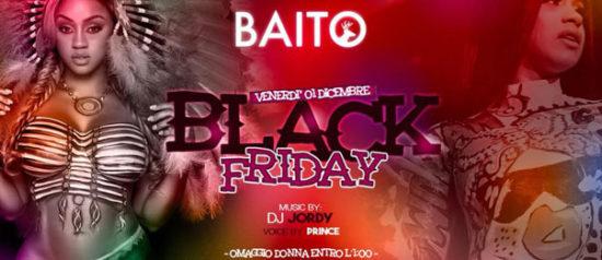 Black friday al Baito Music Bistrot di Retorbido