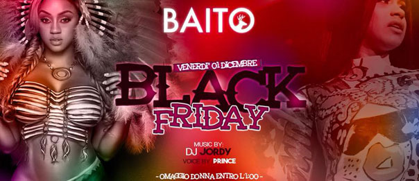 Black friday al Baito Music Bistrot di Retorbido