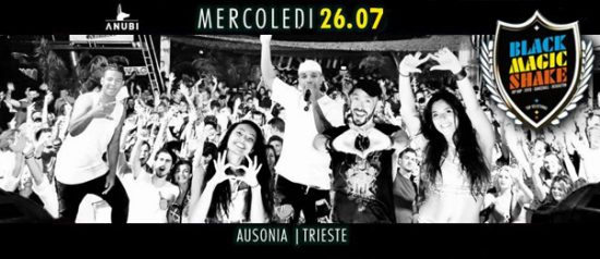 Black Magic Shake all'Ausonia Beach Club di Trieste