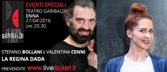 """Stefano Bollani e Valentina Cenni """"La regina Dada"""" al Teatro Garibaldi di Enna"""