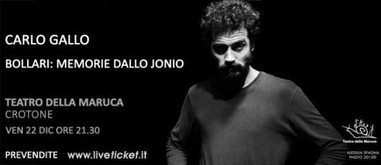 """""""Bollari: memorie dallo Jonio"""" al Teatro della Maruca a Crotone"""