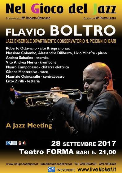 Flavio Boltro al Teatro Forma di Bari