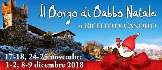 Il Borgo di Babbo Natale 2018 al Ricetto di Candelo