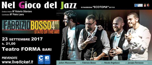 """Fabrizio Bosso """"State of the Art """" al Teatro Forma di Bari"""
