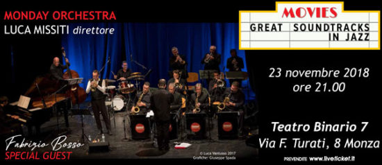 Monday Orchestra & Fabrizio Bosso al Teatro Binario 7 a Monza