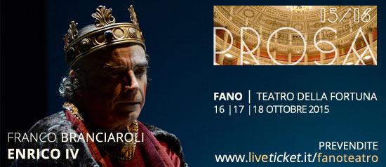 Franco Branciaroli in Enrico IV al Teatro della Fortuna di Fano