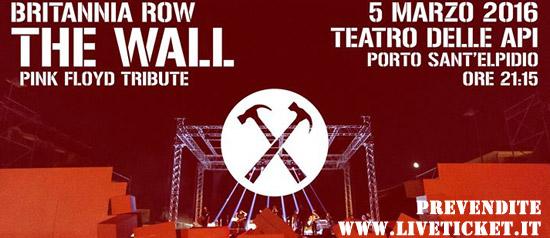 """Britannia Row """"The Wall Pink Floyd Tribute"""" al Teatro delle Api di Porto Sant' Elpidio"""