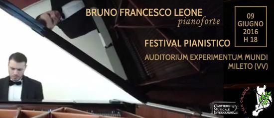 """Festival Pianistico """"Bruno Francesco Leone"""" all'Auditorium Experimentum Mundi di Mileto"""