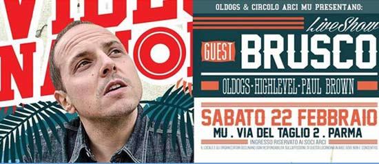 Brusco live show al Circolo Arci MU di Parma