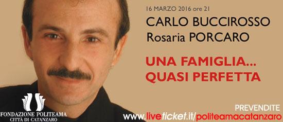 """Buccirosso e Porcaro """"Una famiglia...quasi perfetta"""" al Teatro Politeama di Catanzaro"""