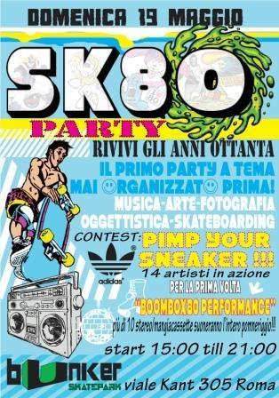 SK80 - Skate, musica e arte per rivivere gli anni '80 a Roma