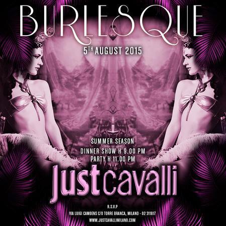 Burlesque al Just Cavalli Club di Milano