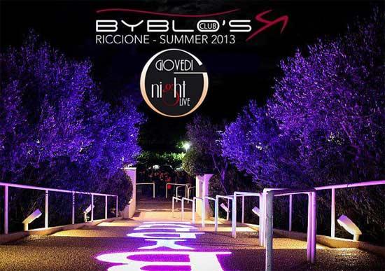 Byblo's Club Riccione i giovedì sera