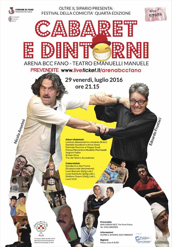 """Festival della Comicità 4a edizione """"Cabaret e Dintorni"""" all'Arena BCC a Fano"""