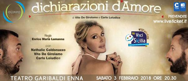"""Voci di Sicilia - Nathalie Caldonazzo """"Dichiarazioni d'amore"""" al Teatro Garibaldi di Enna"""