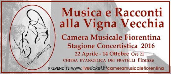 """Camera Musicale Fiorentina """"Musica e racconti alla Vigna Vecchia"""" a Firenze"""