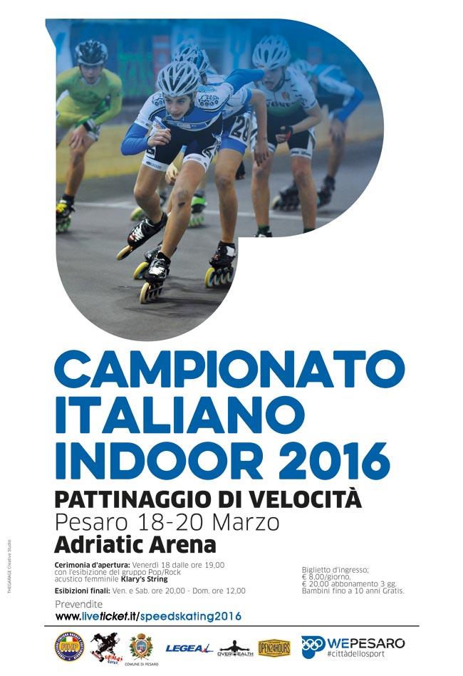 Campionato italiano indoor 2016 pattinaggio di velocità all'Adriatic Arena