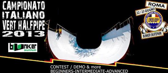Campionato Italiano di Skateboard al Bunker Skatepark di Roma