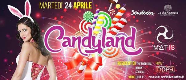 Candyland al Matis Dinner Club di Bologna