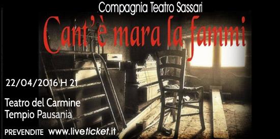 """""""Cant'è mara la fammi"""" Teatro del Carmine di Tempio Pausania"""