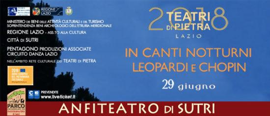 In canti notturni Leopardi e Chopin all'Anfiteatro Romano a Sutri