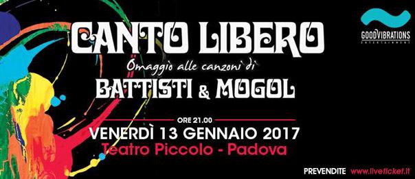 Canto libero al Piccolo Teatro di Padova