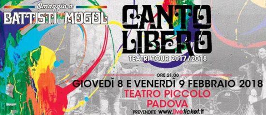 Canto Libero...omaggio a Battisti e Mogol al Piccolo Teatro di Padova