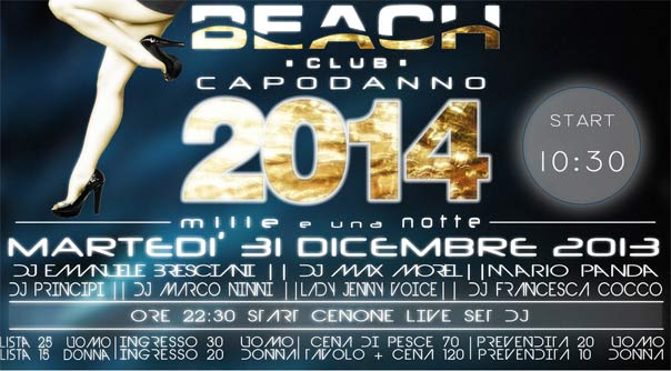 "Capodanno "" Beach Club Versilia"