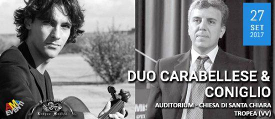 Duo Carabellese & Coniglio all'Auditorium - Chiesa di Santa Chiara a Tropea