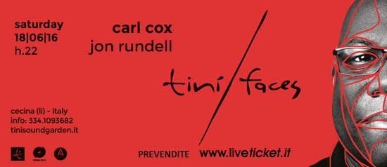 Carl Cox al Tinì Soundgarden di Cecina