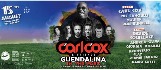 Carl Cox & Friends a Santa Cesarea Terme