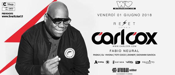 With Love presents: Carl Cox al Reset all'Afrobar di Catania
