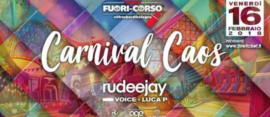 """Fuori-corso """"Carnival caos"""" with Rudeejay al Matis Dinner Club di Bologna"""